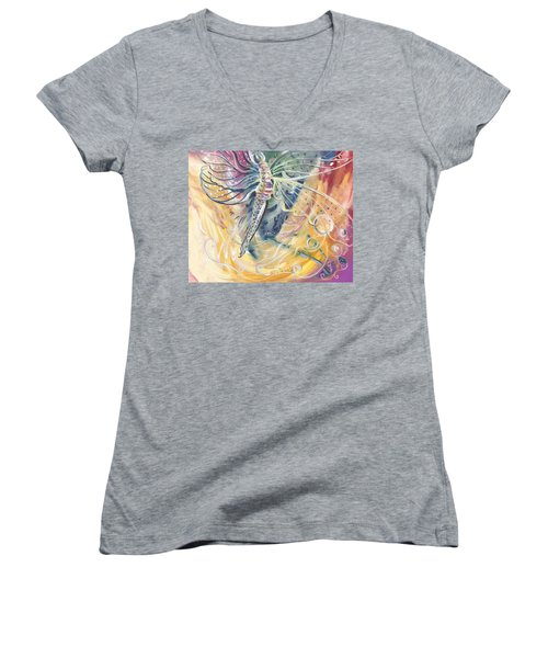 Wings Of Transformation Women's V-Neck