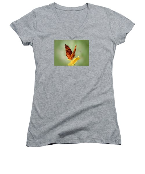 Wings Up - Butterfly Women's V-Neck T-Shirt