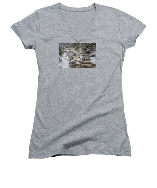 Winter At Sable Falls Women's V-Neck T-Shirt