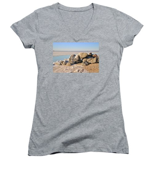 Winter At The Beach Women's V-Neck (Athletic Fit)