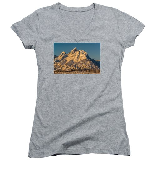 Winter At The Grand Women's V-Neck T-Shirt (Junior Cut) by Yeates Photography