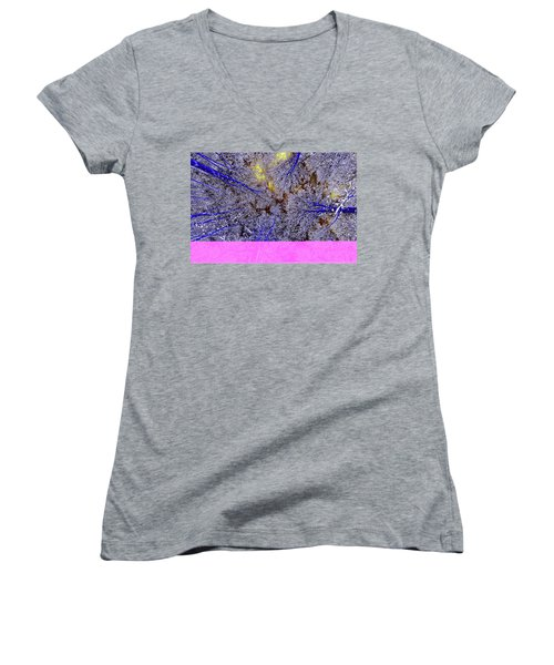 Women's V-Neck T-Shirt (Junior Cut) featuring the photograph Winter Blues by Tony Beck