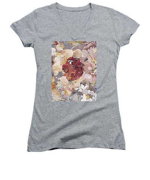 Winter Bouquet Women's V-Neck T-Shirt (Junior Cut) by Nancy Kane Chapman