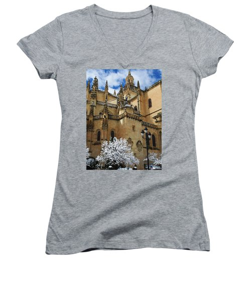 Winter Cathedral Women's V-Neck T-Shirt