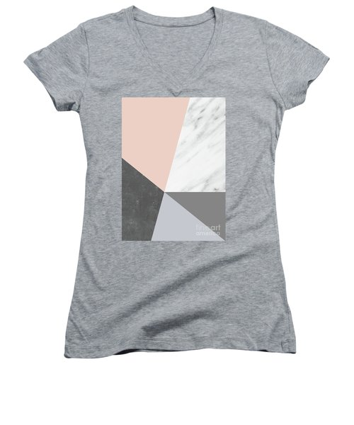 Winter Colors Collage Women's V-Neck
