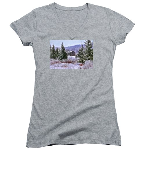 Winter Frost Women's V-Neck (Athletic Fit)