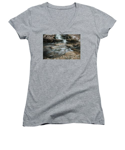 Winter Inthe Falls Women's V-Neck T-Shirt