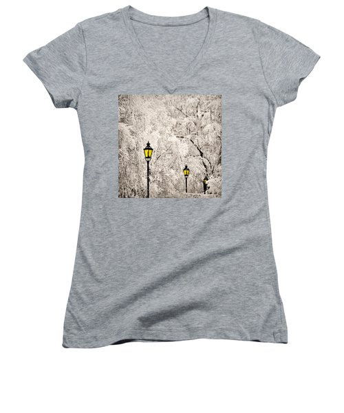 Winter Lanterns Women's V-Neck T-Shirt