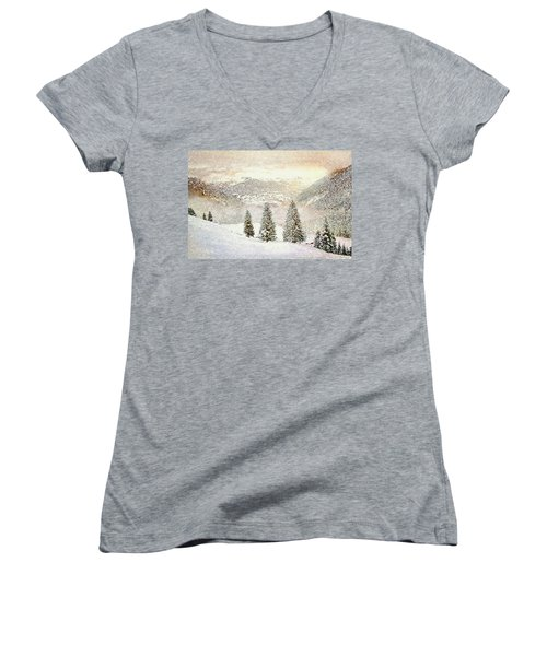 Winter Morning Women's V-Neck (Athletic Fit)