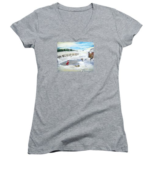 Winter Of Our Youth  Women's V-Neck