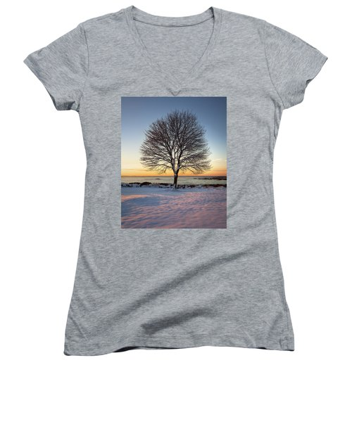 Winter On The Coast Women's V-Neck T-Shirt