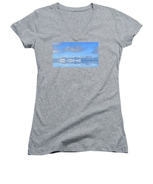 Winter On The Lake Women's V-Neck (Athletic Fit)