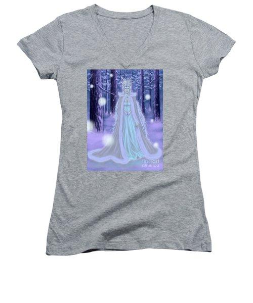 Winter Queen Women's V-Neck T-Shirt