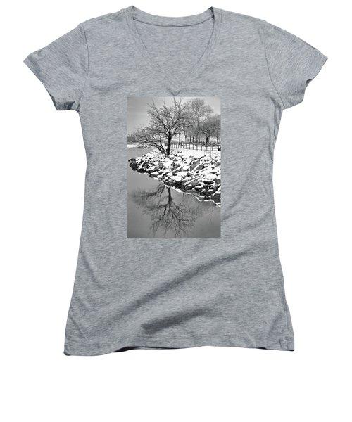Winter Reflection Women's V-Neck T-Shirt