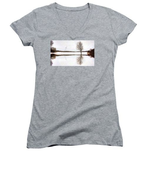 Winter Reflection Women's V-Neck (Athletic Fit)