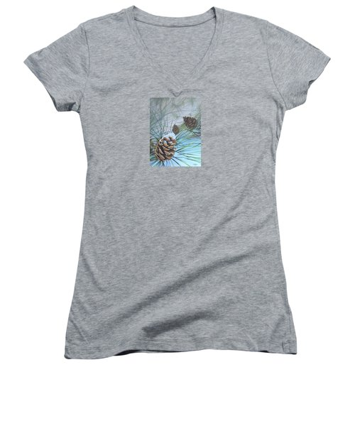 Winter Silence Women's V-Neck T-Shirt