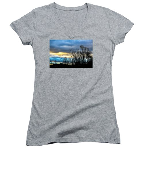 Winter Sky Women's V-Neck T-Shirt