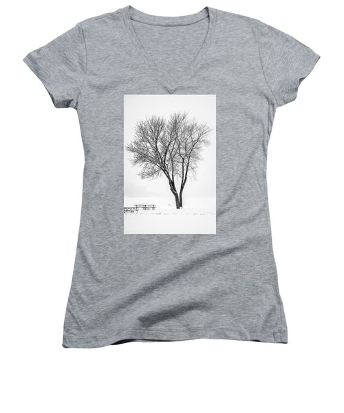 Winter Solitude Women's V-Neck