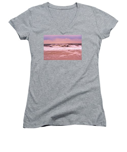 Winter Storm Waves Women's V-Neck (Athletic Fit)