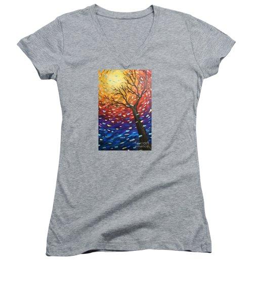 Winter Sun Women's V-Neck T-Shirt