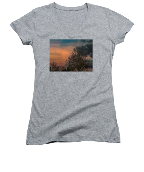 Winter Time Women's V-Neck (Athletic Fit)