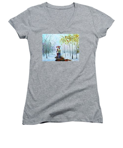 Winter Walk Women's V-Neck