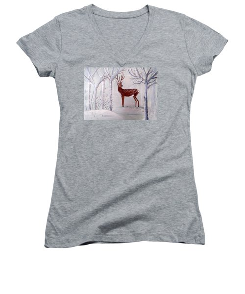 Winter Wonderland - Painting Women's V-Neck T-Shirt