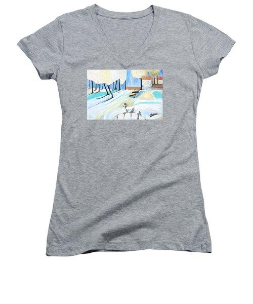 Winterland Women's V-Neck T-Shirt