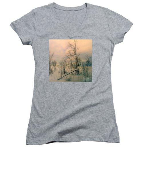 Winter's Face Women's V-Neck T-Shirt