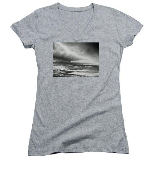 Winter's Song Women's V-Neck T-Shirt (Junior Cut) by Steven Huszar
