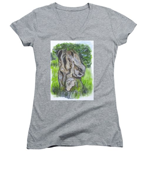Wisdom Olive Tree Women's V-Neck