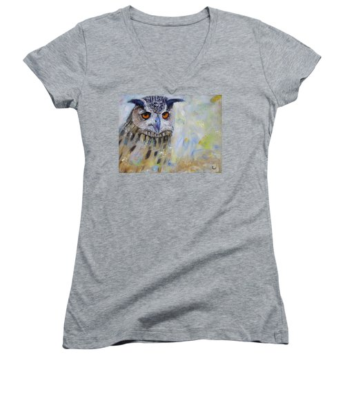 Wise Owl Women's V-Neck (Athletic Fit)