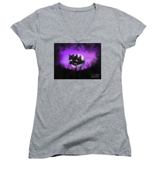 Witch Moon Women's V-Neck