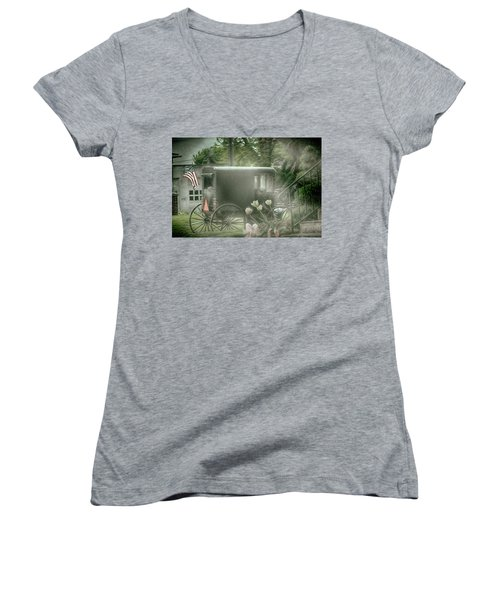 With Deepest Sympathy  Women's V-Neck (Athletic Fit)