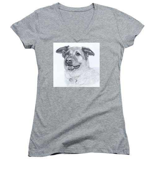 With Grace Women's V-Neck T-Shirt