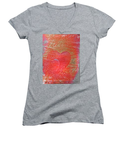 With Heart Women's V-Neck