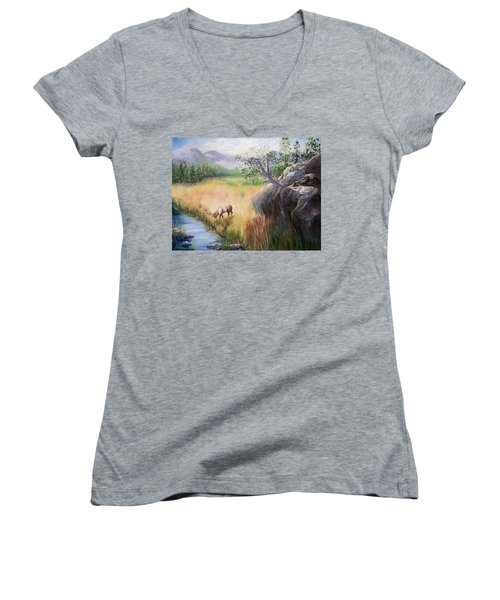 Within Yellowstone Women's V-Neck (Athletic Fit)
