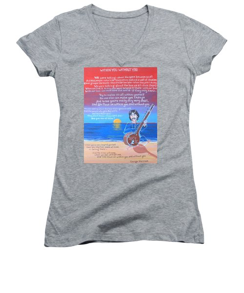 Within You Without You Women's V-Neck (Athletic Fit)
