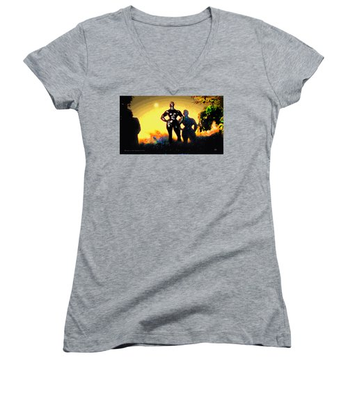 Witness At The Creation Of Eve Aws 2 Women's V-Neck T-Shirt