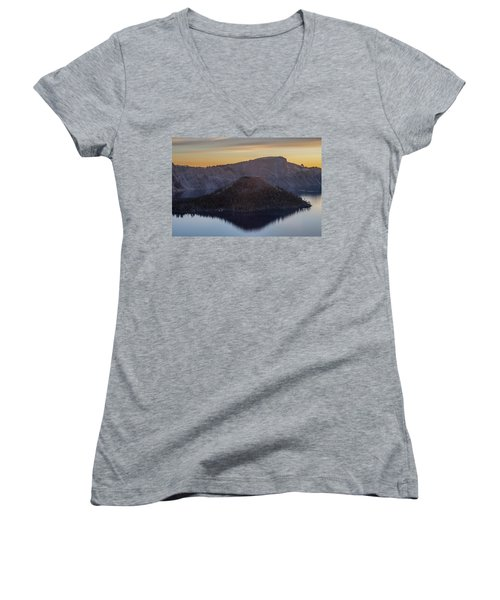 Wizard Island Morning Women's V-Neck