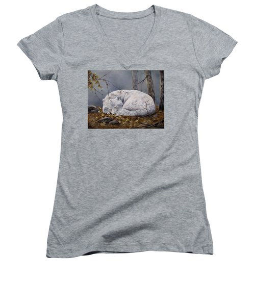 Wolf Dreams Women's V-Neck (Athletic Fit)