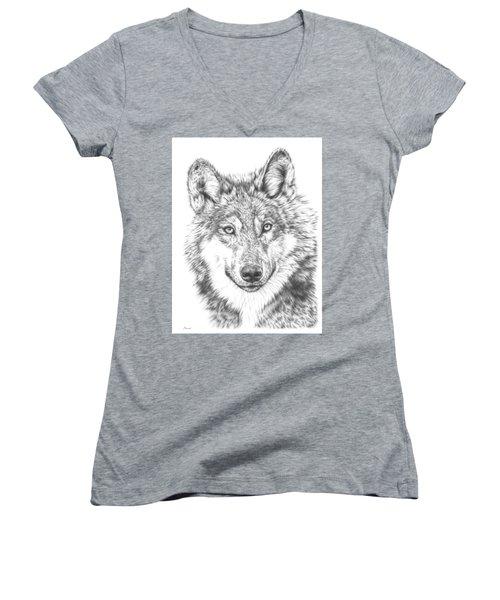 Wolf Women's V-Neck