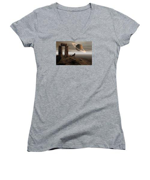 Wolf Song Women's V-Neck T-Shirt