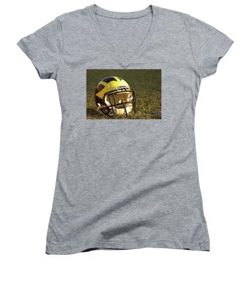 Wolverine Helmet In Morning Sunlight Women's V-Neck