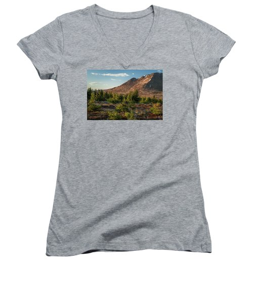 Wolverine Mt Near Sunset Women's V-Neck T-Shirt