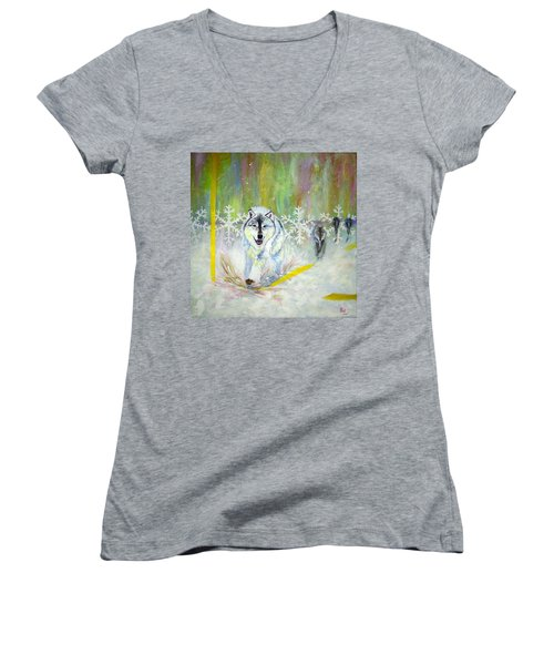 Wolves Approach Women's V-Neck