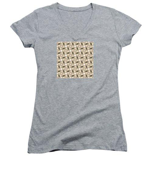 Woman Image Nine Women's V-Neck T-Shirt (Junior Cut) by Jack Dillhunt