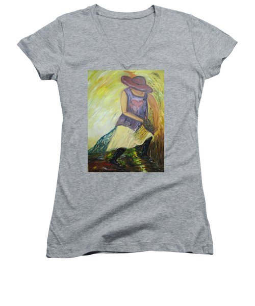 Woman Of Wheat Women's V-Neck (Athletic Fit)
