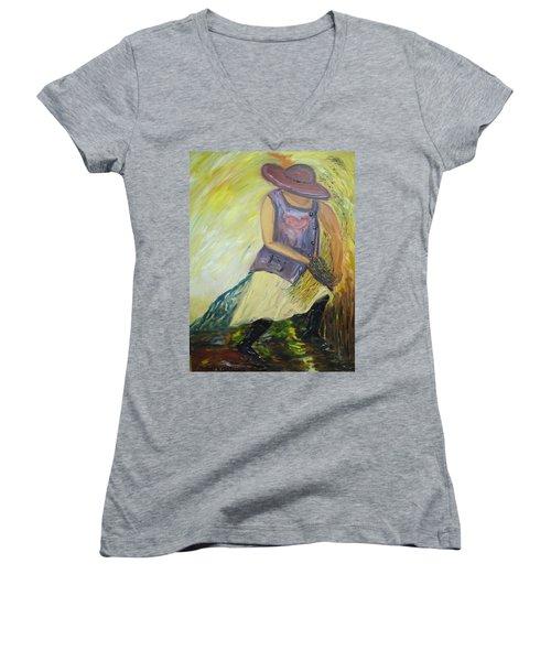 Woman Of Wheat Women's V-Neck T-Shirt