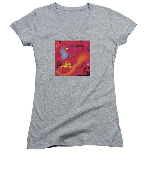 Wonder Women's V-Neck T-Shirt (Junior Cut) by Robert Henne